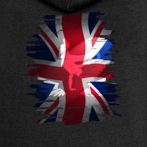 Union Jack britain flag Stunt England destroyed ro - Frauen Premium Kapuzenjacke