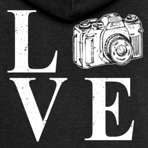 I LOVE PHOTOGRAPHY - Women's Premium Hooded Jacket