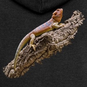 Bearded dragon on root - Women's Premium Hooded Jacket