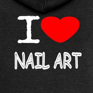 I LOVE NAIL ART - Premium hettejakke for kvinner
