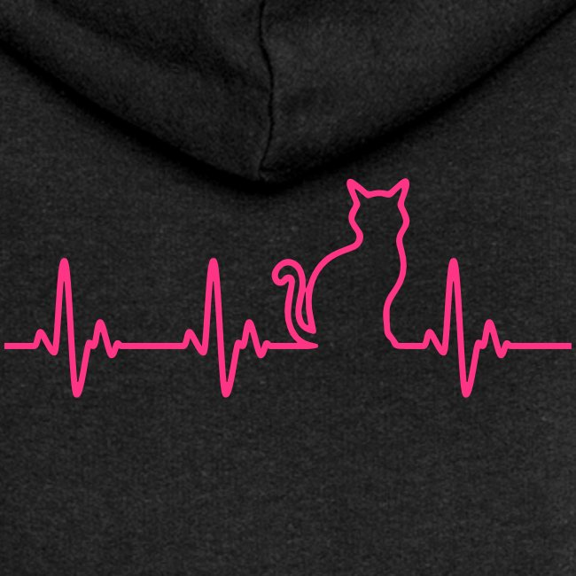 Vorschau: Ein Herz für Katzen - Frauen Premium Kapuzenjacke