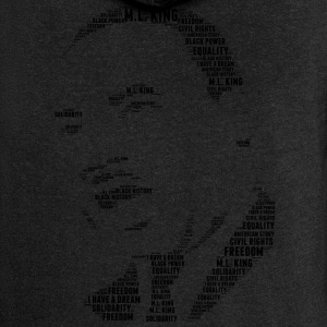 Martin Luther King wzornik word cloud - Rozpinana bluza damska z kapturem Premium