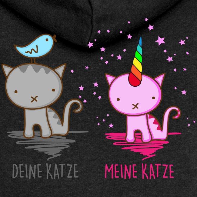 Vorschau: Deine Katze vs. Meine Katze - Frauen Premium Kapuzenjacke
