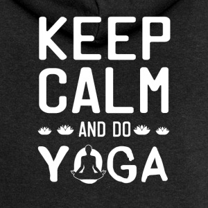 Keep Calm And Do Yoga - Women's Premium Hooded Jacket