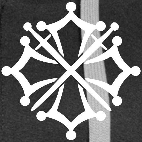 Gravure Griffon + Croix de l'Ost - Veste à capuche Premium Femme