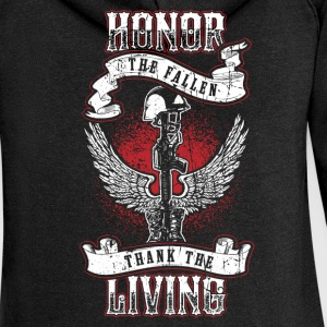 Honor the fallen! Soldier! Veteran! Patriot! - Women's Premium Hooded Jacket