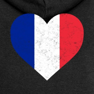 France Flag Shirt Heart - French Shirt - Women's Premium Hooded Jacket