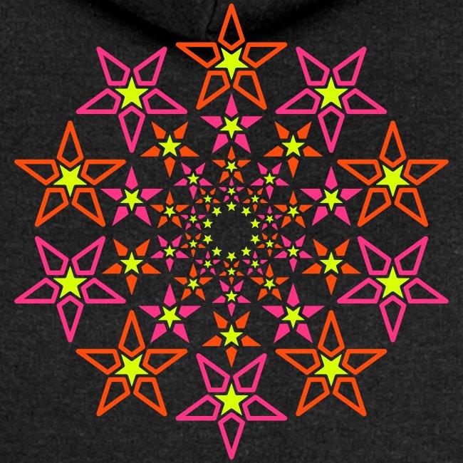 stella frattale 3 colori neon