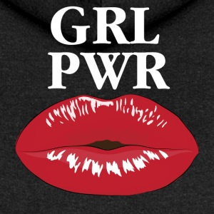 GRL PWR Girl Power Kiss T-Shirt - Frauen Premium Kapuzenjacke