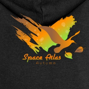 Space Atlas Hoodie Autumn Leaves - Women's Premium Hooded Jacket