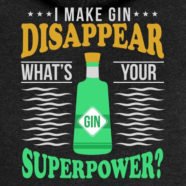 I can make gin disappear