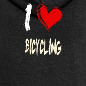 I love cycling - Women's Premium Hooded Jacket
