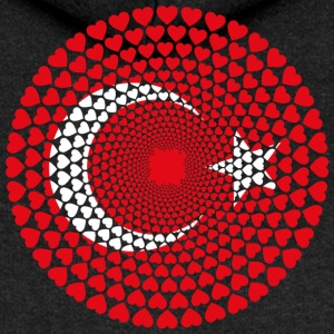 Turkey Turkey Türkiye Love HEART Mandala - Women's Premium Hooded Jacket