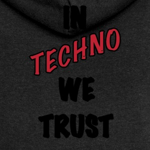 IN TECHNO WE TRUST - Felpa con zip premium da donna