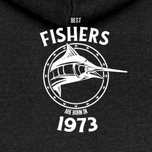 Present for fishers born in 1973 - Women's Premium Hooded Jacket