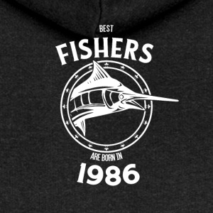 Present for fishers born in 1986 - Women's Premium Hooded Jacket
