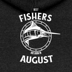 Present for fishers born in August - Women's Premium Hooded Jacket