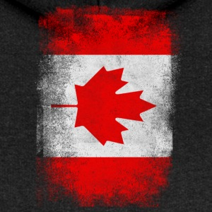 Canada Flag Proud Canadian Vintage Distressed - Women's Premium Hooded Jacket
