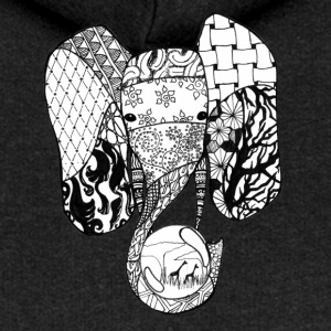 Zentangle-Elephant - Women's Premium Hooded Jacket
