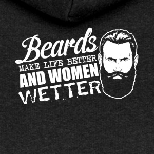 Pun - beards and women - sex, women wet - Women's Premium Hooded Jacket