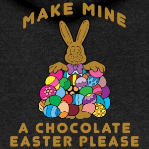 Easter Make Mine A Chocolate Easter Please - Women's Premium Hooded Jacket