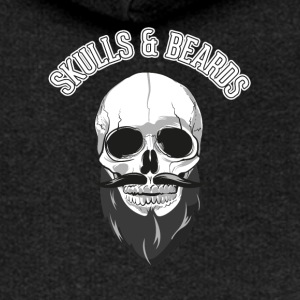 Skull and beard - Women's Premium Hooded Jacket