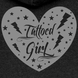 tattoed_girl_grey - Frauen Premium Kapuzenjacke