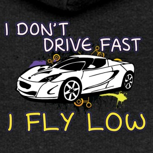 iI don t drive fast i fly low white - Women's Premium Hooded Jacket