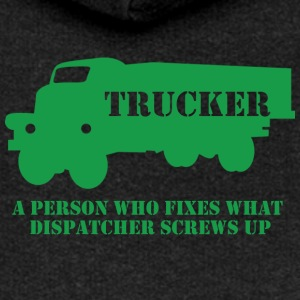 Trucker / LKW-Fahrer: A person who fixes what - Frauen Premium Kapuzenjacke