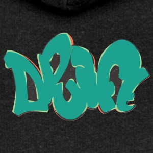 drift graffiti green - Women's Premium Hooded Jacket
