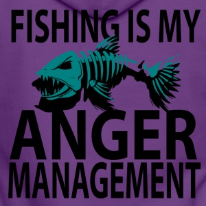 Anger Management - Fishing - Women's Premium Hooded Jacket