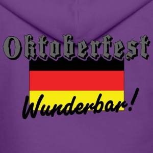 Oktoberfest Wunderbar German Flag - Women's Premium Hooded Jacket