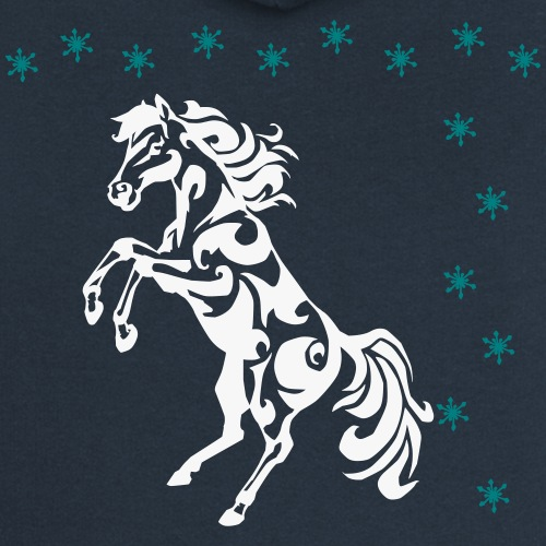 Tribal Horse Rearing - Women's Premium Hooded Jacket