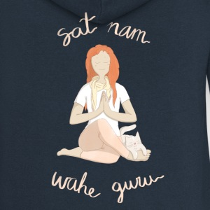 Meditating with mantras - Women's Premium Hooded Jacket