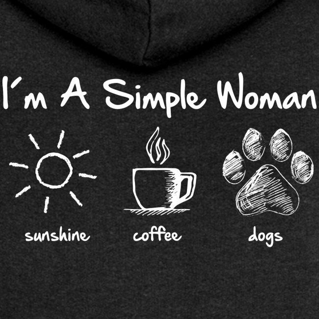 Vorschau: simple woman dog white - Frauen Premium Kapuzenjacke