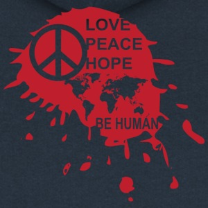Love Be Human - Women's Premium Hooded Jacket