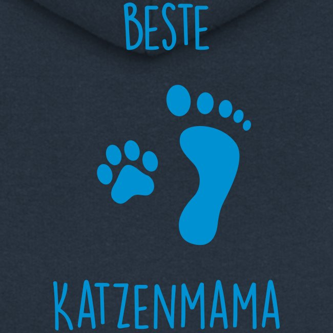 Vorschau: Beste Katzenmama - Frauen Premium Kapuzenjacke