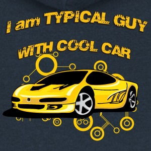I am Typical guy with cool car - Women's Premium Hooded Jacket