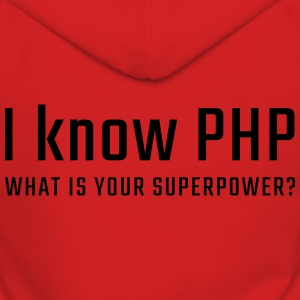 I know PHP - Women's Premium Hooded Jacket