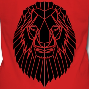 Edgy Geometric safari Lion Print by Stencilize - Women's Premium Hooded Jacket