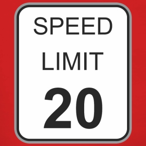Road sign speed limit 20 - Women's Premium Hooded Jacket