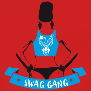 swag gang rap sexy woman back tatoo gangster grafi - Women's Premium Hooded Jacket