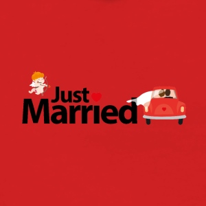 Just Married - Felpa con zip premium da donna