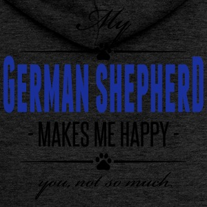 My German Shepherd makes me happy - Frauen Premium Kapuzenjacke
