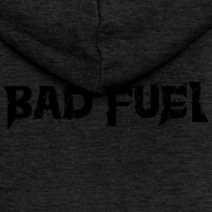 Bad logo Fuel - Felpa con zip premium da donna