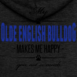 My Olde English Bulldog makes me happy - Women's Premium Hooded Jacket