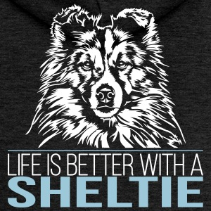 LIFE IS BETTER WITH A SHELTIE - Frauen Premium Kapuzenjacke