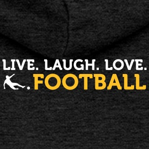 Citations de football: en direct. Amour. Football. - Veste à capuche Premium Femme