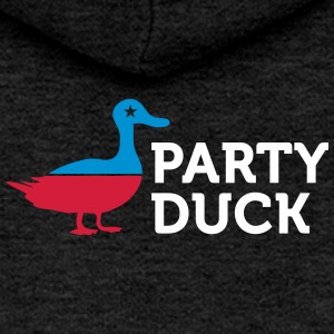 Political Party Animals: Duck - Women's Premium Hooded Jacket