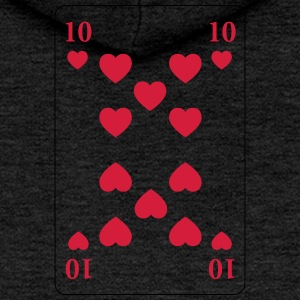 Heart 10 - ten of hearts - Women's Premium Hooded Jacket